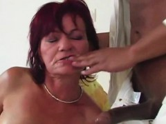 Big One For Small Tit Granny