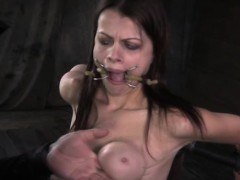Breast Bondage Sub Punished With Ropes