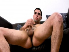 Hairy Chest Dude Jerks Off Naked
