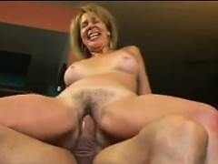 Hairy Milf Enjoying A Thick Cock