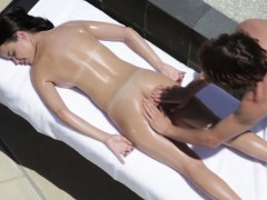 Beautiful Teen Gets Fingered During Massage