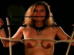 Cruel Way Of Dicipline A Masochist Hottie With Hot Big Tits
