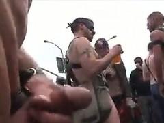 Stroking Cock In Public