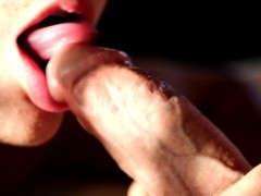 Muscular Stud Spoiling Lucky Dude With Blowjob