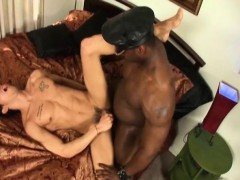 Hot White Guy Gets Pumped By A Beefy Black Guy