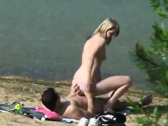 Hardcore Babe Fucks A Dick On The Shore