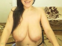 Hot Webcam Girl With Big Saggy Tits