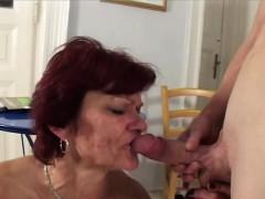 Mature Redheaded Milf Sucks Dick