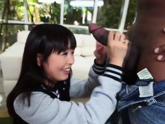 Asian Teen Tugs Black Rod