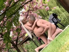 Paul Is Lovin' His Breakfast In The Garden With His New Girl