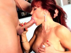 Sexy Vanessa Gets On Her Knees For Christian