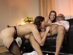 Young Euro Nurse In Stockings Fucks Mature Couple