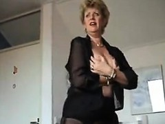 Mature Woman Teasing Her Sexy Nylons