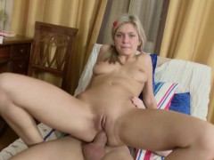 Skinny German Teenn Get First Anal Fuck After School
