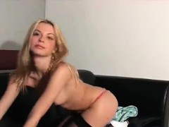Perky Hot Blonde Slow Stripping