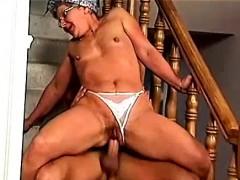 Horny Granny Fucks Young Guy