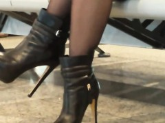 Amazing Legs And Heels In Public Candid Video