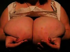 Bbw Shows Of Her Big Breasts And Rubs Them
