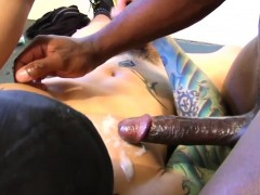 Muscular Ebony Hunk Assfucked By Inked Latino