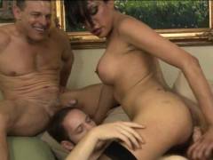 Lusty Shemale Jessica Fox In Stockings Anal Gangbang