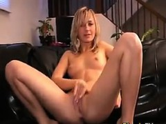 Blonde 19 Year Old Fingering Her Ass