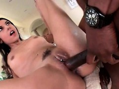 Perky Teen Gets Pierced Twat Black Smashed