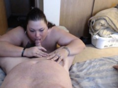 Bbw Wife Cuckolding Her Man With Another