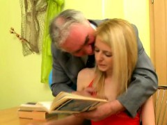 Old Teacher Is Lovely Fascinating Babe's Pussy