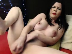 Busty Hairy Teen Has A New Toy