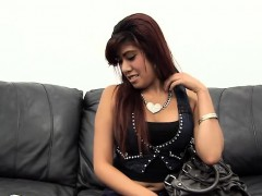 Thick Latina Swallows Huge Gooey Load in Fake Audition