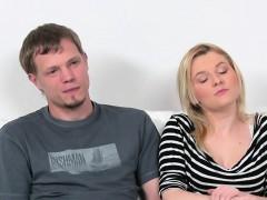 Agent Sucks Cock After His Girlfriend