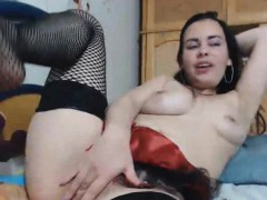 Sloppy Anal With Lollipop And Big Cucumber