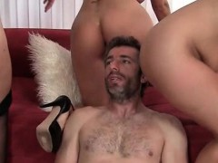 4some With Three Cougars Fucking Teen Stiffy
