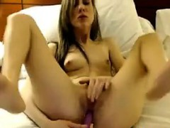 Pretty Cam Girl With A Toy