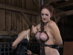 Clamped Hotty Receives Harrowing Pussy Pleauring