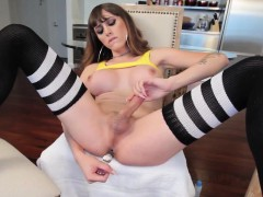 bigtitted-shemale-toying-her-ass