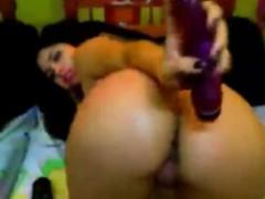good-looking-busty-latina-anal-toying