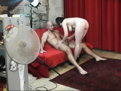 Casting Guy Gets Hanjob And Tease From Busty Milf