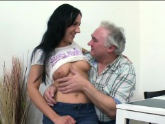 Lovely Young Teenie Is Gonna Be Banged Hard By Old Man
