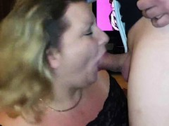 Hefty Cougar Blowing And Swallowing