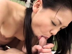 Asian bitch getting fucked deep in her wet pussy pie
