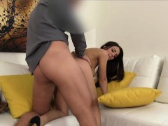 Sexyl Dominika Gets Her Pussy Fucked Hard By Casting Agent