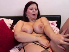 busty mature lady masturbating in stockings Hot
