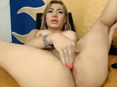 Blonde She Doll Masturbates To Orgasm