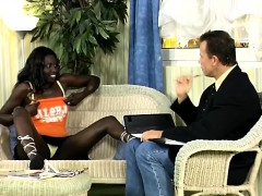 Horny African Hottie Seduces An European Businessman. She