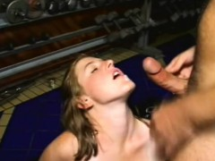 hairy blonde nympho relishes a hard pounding and then gets facialized