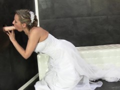 Glam Bride Gets Bukkaked