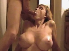 busty-girl-getting-semen-on-mouth
