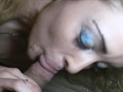 Blondie Hottie Crack Whore Double Cock Fucked