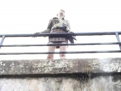 Stealthy Spycam Upskirt Shots Of A Hot Babe On A Bridge Rev